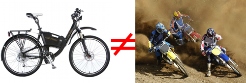 E-bike Does Not Equal Dirt Bike