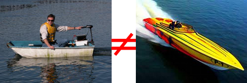 Rowboat with Trolling Motor Does Not Equal Speedboat