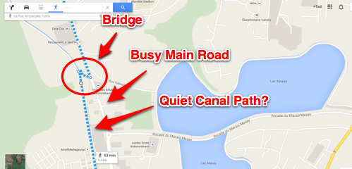 Google Maps to the Sweet Canal Path