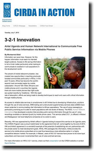 CIRDA in Action: 3-2-1 Innovation