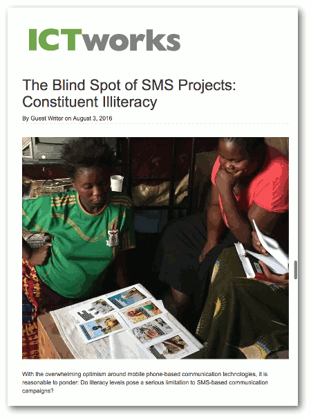 The Blind Spot of SMS Projects: Constituent Illiteracy